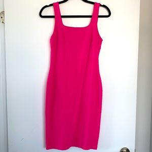 Hot Pink tight cocktail dress